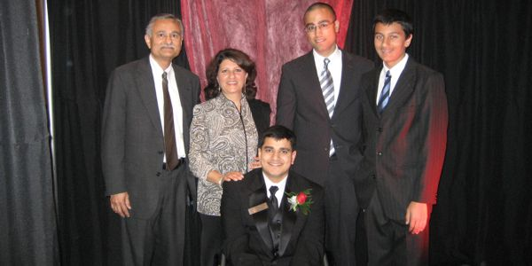 Atif Moon and His Family